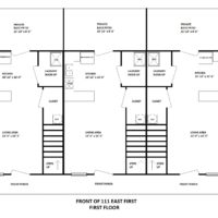 111 East First First Floor Building Layout