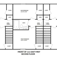 111 East First Second Floor Building Layout